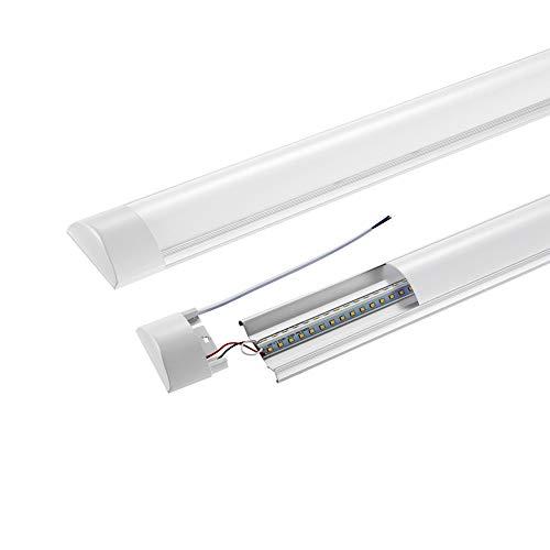 Rejoicing LED Feuchtraumleuchte 120cm 40W 6000K Led Röhre Leuchte 4800LM Wasserdichte Deckenleuchte Röhre Licht für das Home Office Lager, Kaltweiß