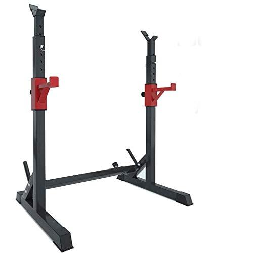 FFKL Squat Rack Dipping Station Langhantel Rack Dip Stand Fitness Bankdrücken Ausrüstung Polwer Einstellbar, Für Indoor Outdoor Gym Fitness Stretching Training,Black