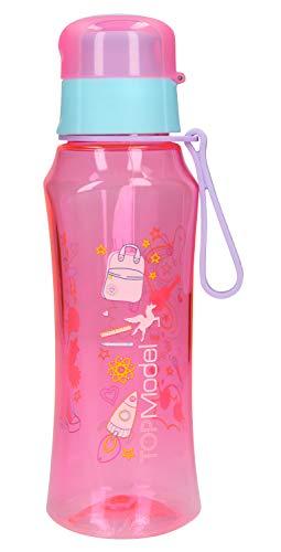 Depesche 10536 - Trinkflasche aus Kunststoff, frei von BPA und Phthalaten, ca. 500 ml, TOPModel, pink