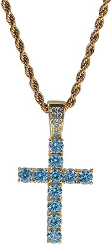 ZPPYMXGZ Co.,ltd Collar Moda Hip-Hop Collar Jesús Cruz Colgante Collar Hipster Punk Street Hip-Hop Colgante Collar Me ND Mujeres Pareja Regalo Punk Jewelry-Silver