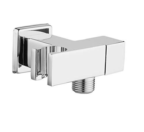 SSXPNJALQ Válvula de Tope de Agua Válvula de ángulo de Grifo con Soporte Interruptor de Inodoro Control de Agua Accesorios de baño Cromado