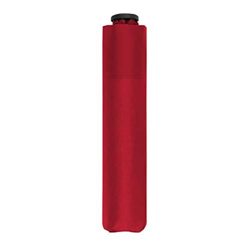 Parapluie de Poche Doppler Zero,99 - Poids de Seulement 99 grammes - Stable - Coupe-Vent - 21 cm - Fiery Red