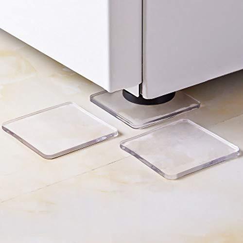 Ghair2 Universelle Anti-Vibrations-Gummifüße, Silikon-Anti-Rutsch-Matte für alle Waschmaschinen, 4 Stück (Trasparent)