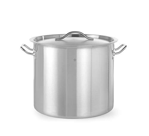 Revolution Hoher Kochtopf | 36 L | Ø 36 x 36 cm | Edelstahltopf für Induktion | mit Metall-Deckel | Ideal für Küche & Professionelle Gastronomie | Spülmaschinengeeignet