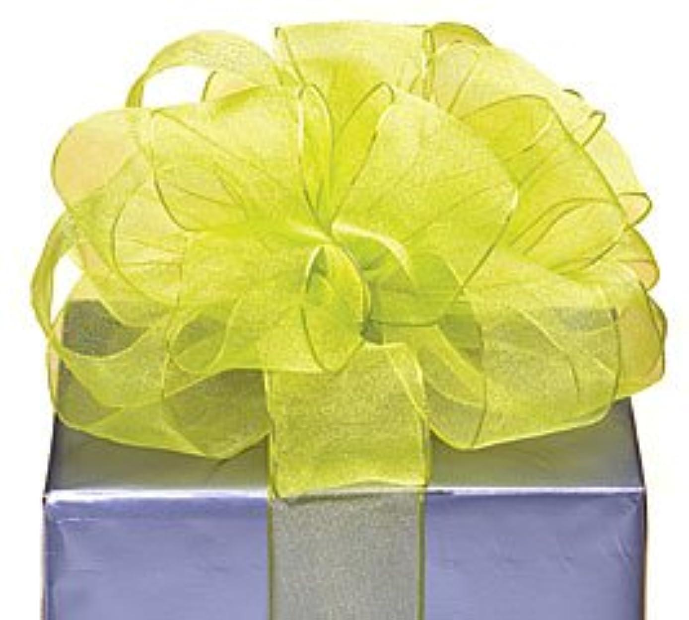Lime Green Organza Sheer Ribbon #9 1.5