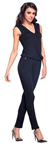 Lemoniade eleganter Jumpsuit in verschiedenen Varianten und Farben, Modell 1 Schwarz, Gr. M (36/38)