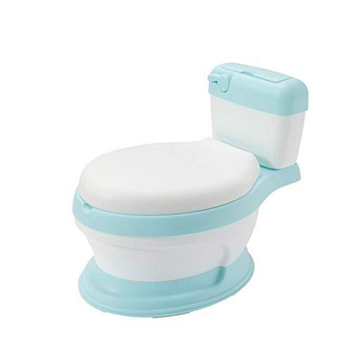 Portatile e Bello Toilette Bambino Mobile igienici Durevole Antiscivolo Potty Coach Sveglio e Comodo Bambino WC 3 Colore Facoltativo Facile da Pulire (Color : Blue)