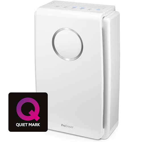 Pro Breeze Air Purifier for Home 5-in-1 with True HEPA Filter
