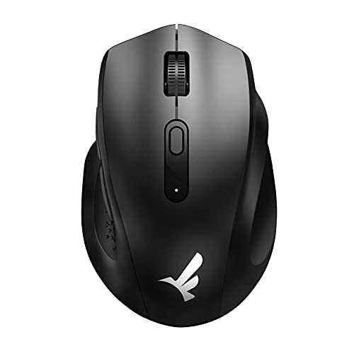 Wireless Mouse, Fatelegend Silent Mouse Wireless, Comfortable Grip Computer Mouse with 5 Adjustable DPI & USB Receiver, Ergonomic Mouse for Laptop, Chromebook, Desktop, Notebook, PC, Mac