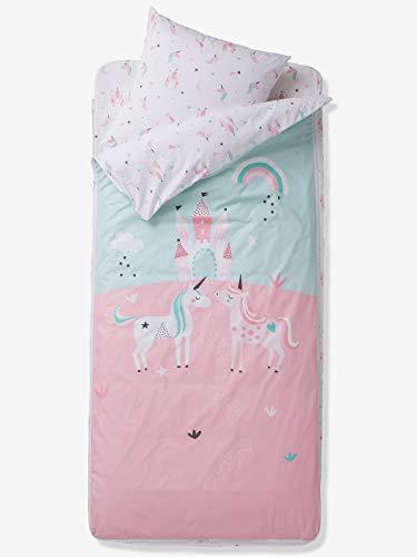 Vertbaudet Gäste-Bettwäscheset,Einhörner ohne Decke rosa 90x140