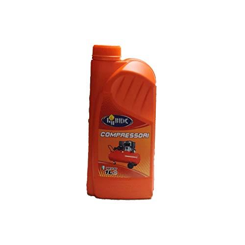 Lubex Olio Speciale per compressori lubrificati ad Olio 1 litro Made in Italy Adatto per Tutti i compressori ad Olio Alta qualità
