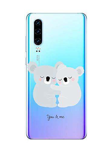 Oihxse Compatible pour Huawei P20 Lite//Nova 3E Coque Ultra Fine Transparente TPU Silicone Doux Protection Housse Motif//Exact Fit//Souple pour Huawei P20 Lite//Nova 3E Paresse A1