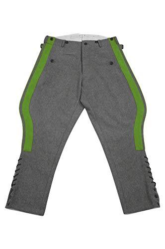 militaryharbor WW2 WWII - Pantalones de chándal alemán, Color Gris - Gris...