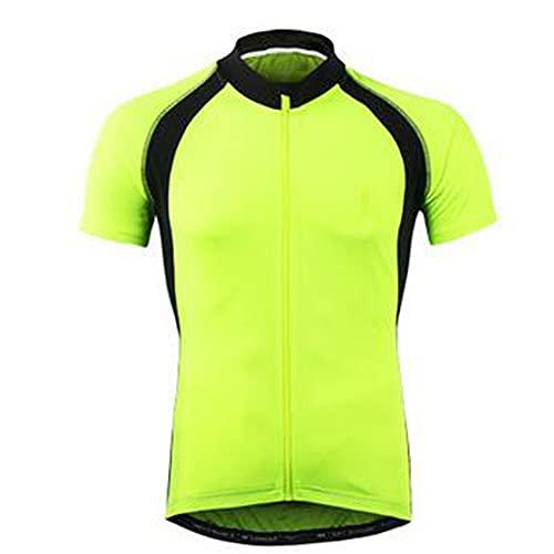 Ypnrd Maillots De Ciclismo Hombres Ciclismo Camisa De Manga Corta para Actividades Al Aire Libre,Verde,L