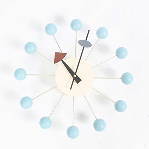 GXEXG Silent-Wanduhr, Glocke Tabelle Stilvolle Hintergrund Interi Circular Bunte Kugeln Süßigkeiten Wanduhr Kreative Dekoration Uhr Riesenrad Uhr (Color : Baby Blue)