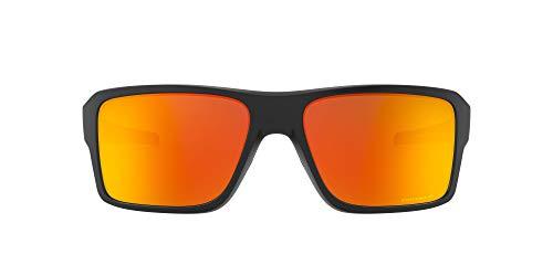 Oakley Men's Double Edge 0OO9380 Polarized Iridium Rectangular Sunglasses, MATTE BLACK, 66.02 mm