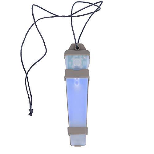 SGOYH Airsoft Tactique Casque Autocollant Magique LED Sécurité Urgence Identification Clignotant Lumière pour Aviron en Plein Air Chasse Randonnée Camping (Bleu)