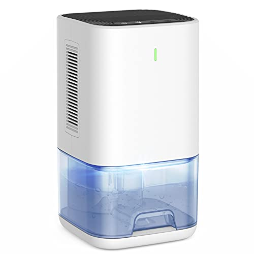 LEEL Dehumidifier 42OZ(1200ml) Portable Ultra Quiet Dehumidifier 2300 Cubic Feet (270 sq ft) 6H/12H Timer Small Dehumidifier for Home Basement Bedroom Bathroom Closet RV Camper