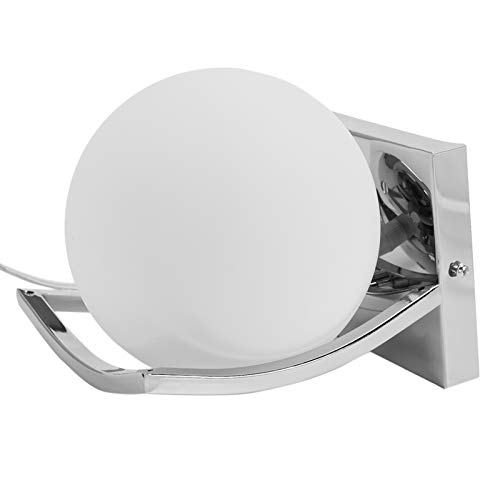 WOVELOT LáMpara de Pared de Bola de Cristal de Metal Creativa úNica Luces de Pared Led para LáMpara de Cabecera de Dormitorio de Pasillo de Paso