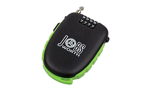 Jobsworth Ristretto Retractable Cycle Cafe combination cable Lock
