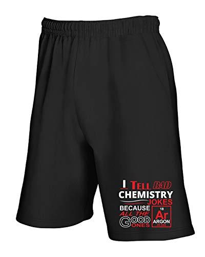 Jogginghose Shorts Schwarz GEN0529 Bad Chemistry Jokes
