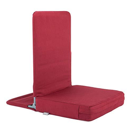 MANDIR vloerstoel, inklapbaar met gevoerde rugleuning, meditatiestoel met dik zitkussen voor seminarhuizen, meditatie, werken dicht op de vloer