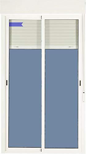 Ventanastock Puerta Balconera Aluminio Corredera Con Persiana PVC 1200 ancho × 2185 alto 2 hojas (marco y cajón persiana en kit)