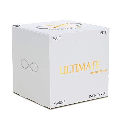 Ultimate White | Muskelaufbau- und Testosteron-Intensiv-Kur in 2x 30 Einzelportionen für Leistungssportler | Hochdosiert | Pre- & Post-Workout | Laborgeprüft | Made in Germany | INFINITY X (White)