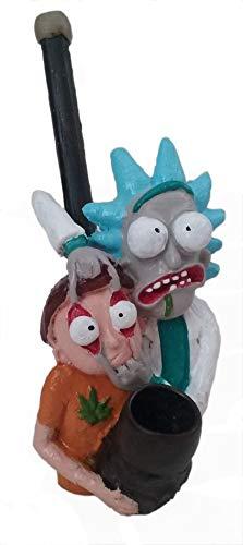 Novelty Collectible Rick with Morty Figurine Tobacco Pipe