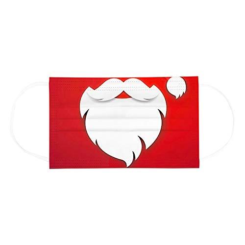 Love Letters Visage Foulard Ne peut être utilisé qu une seule fois Unisexes Adultes De Visage, Visage FoulardDe 3 Plis Imprimés Par Noël 3D