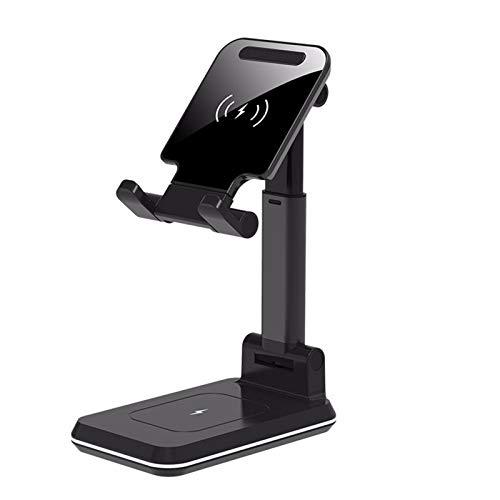 Nomi Soporte De Carga InaláMbrico Ajustable para TeléFono MóVil, Adecuado para iPhone, Samsung, Huawei, Airpods Pro/Galaxy Buds 2 En 1 Cargador InaláMbrico Dual