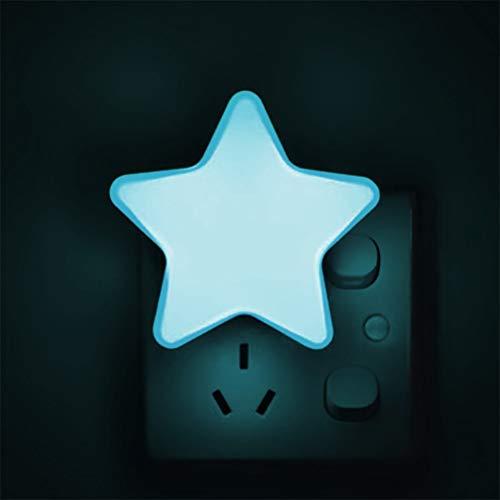 zuoshini Kinder Nachtlicht Stern Form LED Nachtlicht Nachtleuchte Steckdose mit Fotozellen Sensor Nachttischlampe Schlummerleuchte für Kinderzimmer Flur Treppe (EU Stecker)