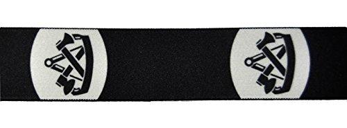 Eiko Hosenträger mit Zunftzeichen, 36 mm breit, Leder-Rückenteil (140 cm, Zimmermann)