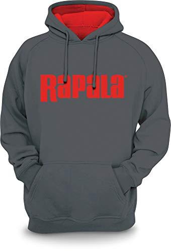 Rapala RSH02L Sweatshirt mit Kapuze, Gr. L, Grau / Rot