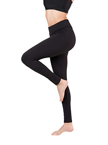 Baihetu Buttery Soft Leggings for Women-Regular and Plus Size Leggings with Inner Pockets -Yoga Pants Black X-Small