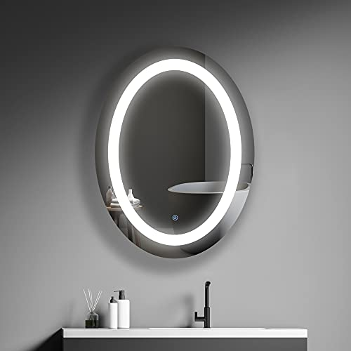 MIRPLUS Oval LED Vanity Bathroom Mirror