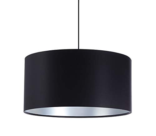 BPS Koncept Glamour Santia - Lámpara de techo (40 cm), color negro y plateado