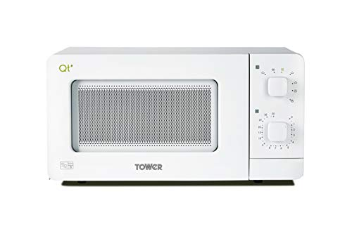 Tower QT1T Manual Control Microwave Oven with Dual Wave Technology, 35 Minute Timer, Defrost...