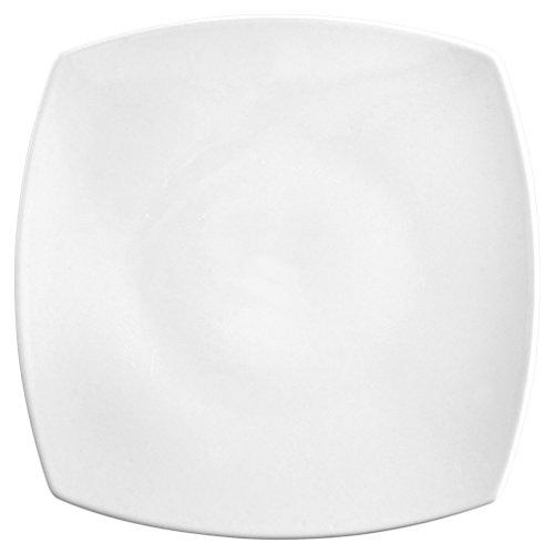 Saturnia Tokio Assiette Plate, Porcelaine, Blanc, 27 x 27 x 2 cm