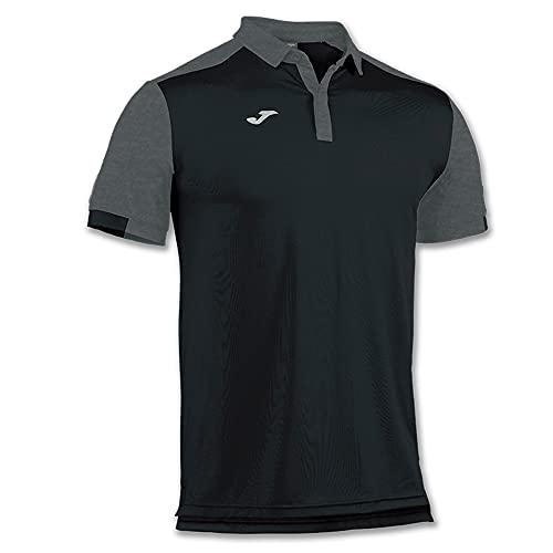 Joma Comfort Camiseta Polo, Hombres, Negro-100, 4XL