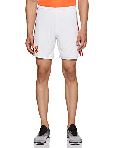 adidas Herren Manchester United Shorts, White/Real Red, L