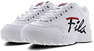 Fila Disruptor Script (5, White/Navy/Red)