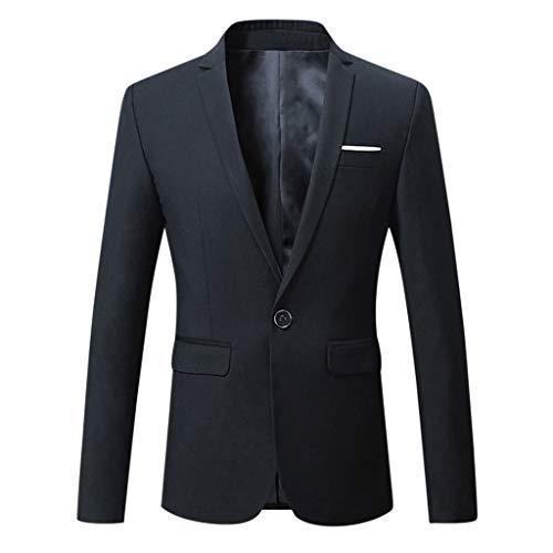 Huacat Herren Sakko Fitness Sportlich Anzugjacke Business Freizeit Slim Fit Blazer Coat Slim Fit EIN Knopf Sakko