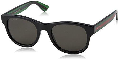 Gucci Herren GG0003S 006 Sonnenbrille, Schwarz (Black/Grey), 52