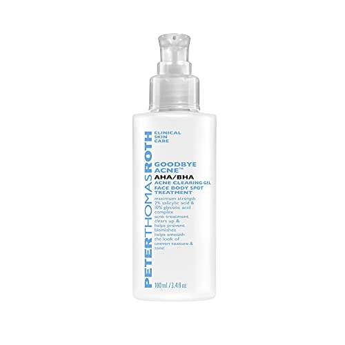 reviva peter thomas roth glycolic acids Goodbye Acne AHA/BHA Acne Clearing Gel Face Body Spot Treatment, Maximum-Strength Acne Spot Treatment for Blemishes and Pores