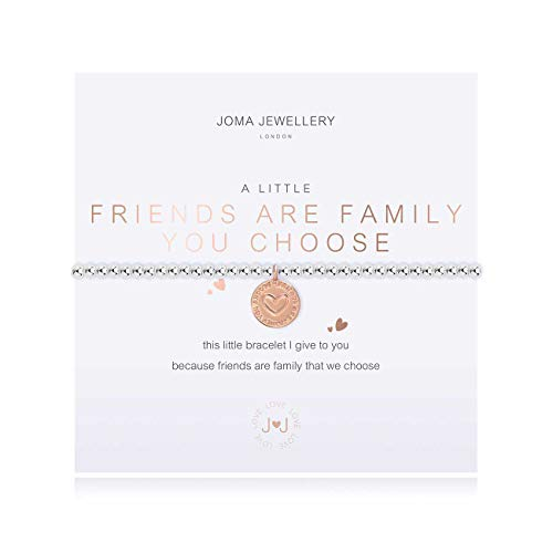 Joma Jewellery A Little Friends are The Family You Choose Silver Bracelet | 17.5cm Stretch