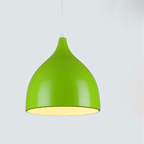 Lh&Fh Creative Nordic Brief Aluminum Pendant Light E27 For Store / Bedroom LED 220V Chandeliers , green , large