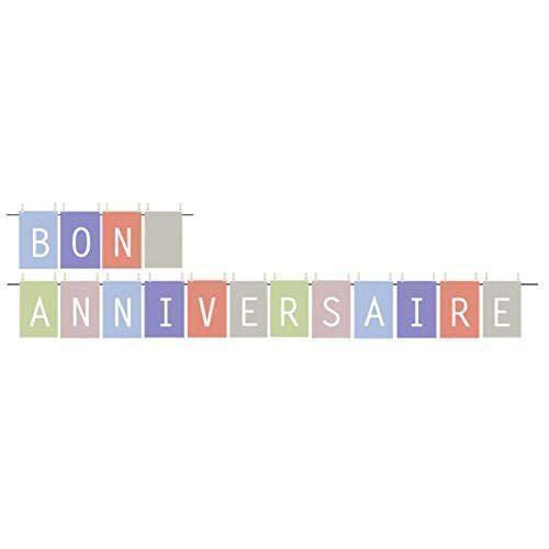 Farfouil en Fête Guirlande Bon Anniversaire 6M 16 FANIONS 32 Clips