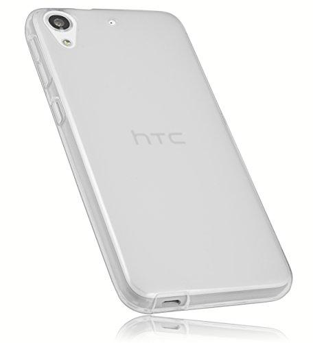 mumbi Hülle kompatibel mit HTC Desire 626G Handy Hülle Handyhülle, transparent weiss