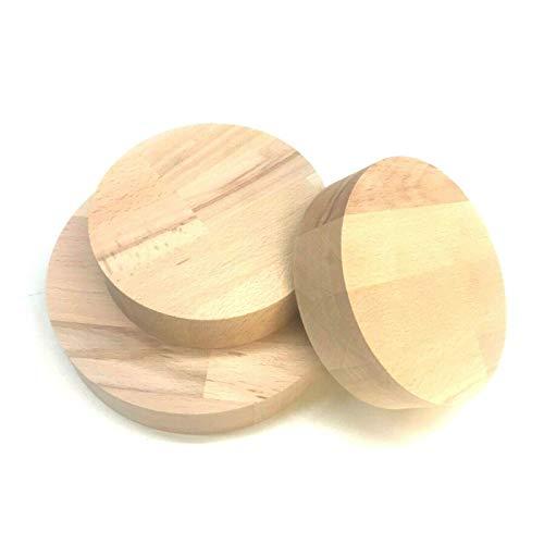 Buche Leimholz Runde Holzscheibe Holz Rund Scheibe Tischplatte Rundholz Scheiben Kreis Basteln (Stärke/Dicke 18mm, Ø 60mm)